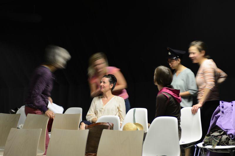 Rapunzel frisch frisiert, Backstage