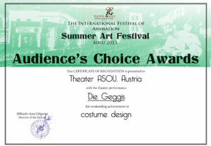 Audiences Choice Award Cosume Design