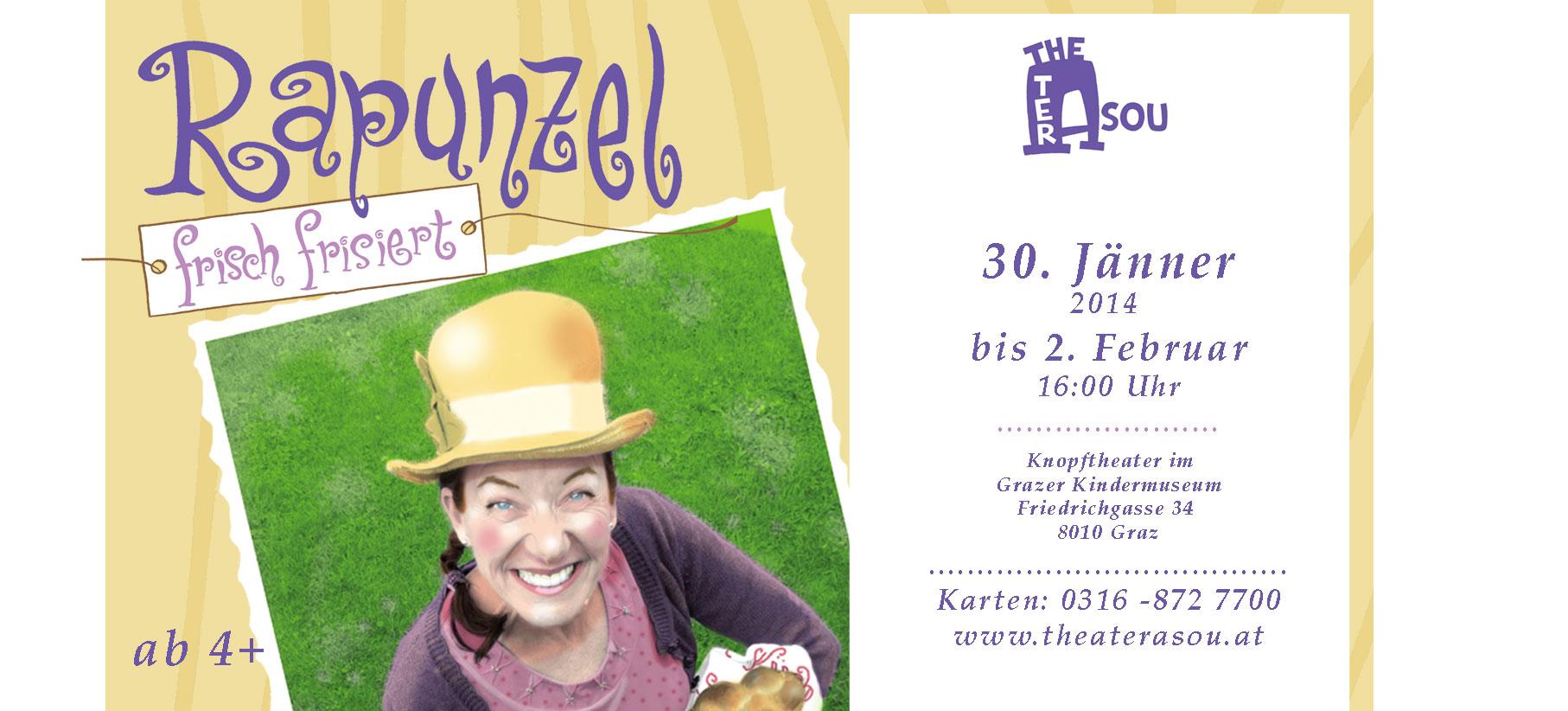 Rapunzel frisch frisiert im Knopftheater Graz